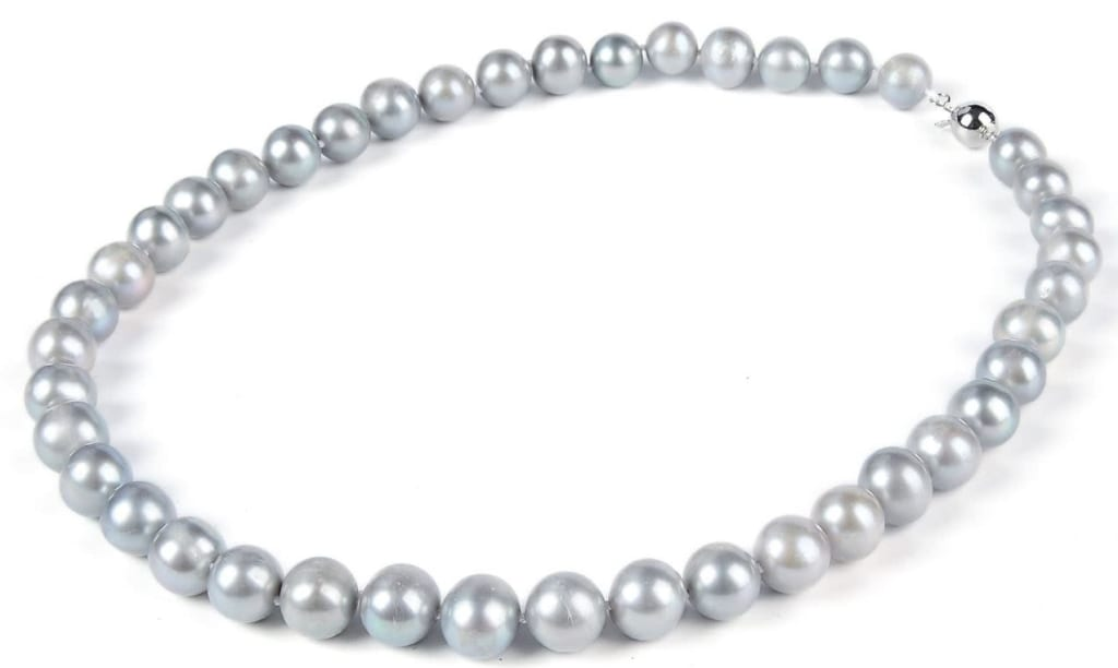 """17"""" AA+ Gray Freshwater Pearl Necklace for $27"""