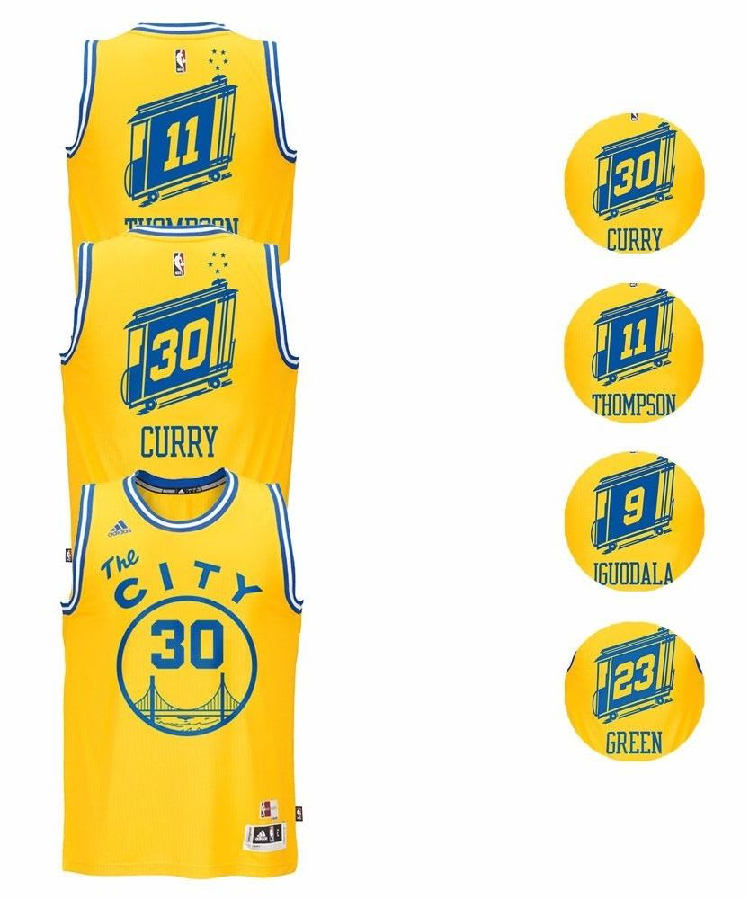 "adidas Men's NBA Warriors ""The City"" Jersey $33"