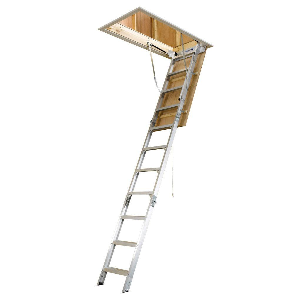 Werner Aluminum Attic Ladder for $159