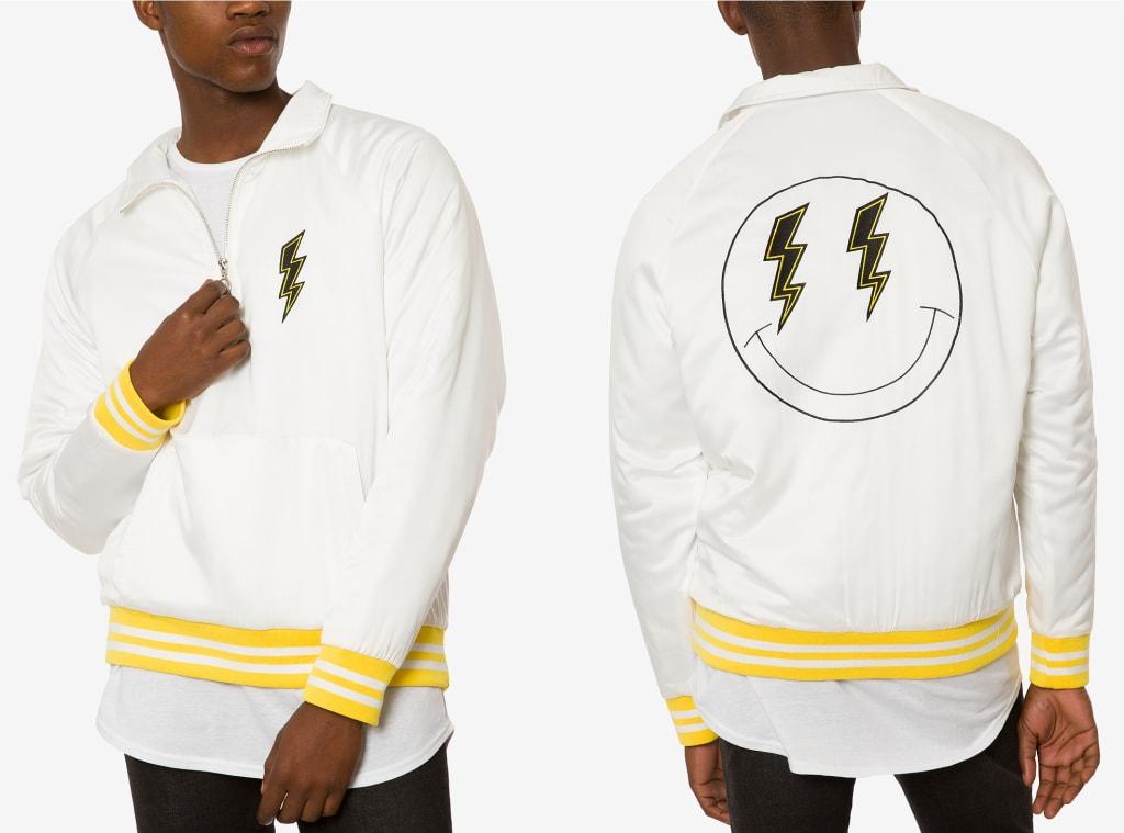 Jaywalker Men's Satin 1/4-Zip Varsity Jacket $31