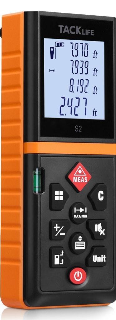 Tacklife 131-Foot Laser Tape Measure for $23