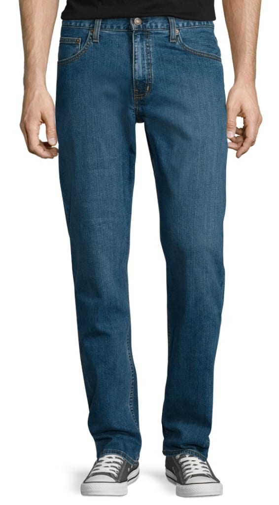 f708a5aaa Arizona Men's Flex Relaxed-Fit Straight Jeans for $15
