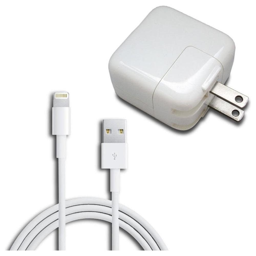 12W Power Adapter for Apple, Lightning Cable $11