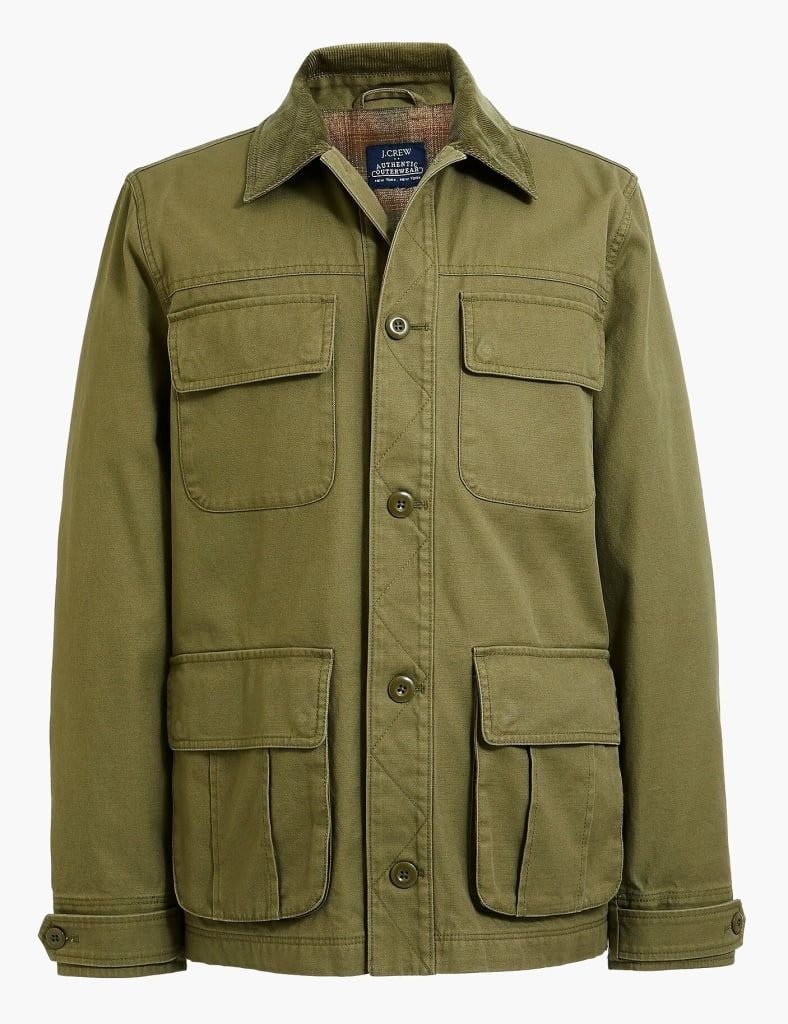 NEW MEN/'S XS  J CREW FACTORY FLANNEL PLAID LINED BARN JACKET IN EARTH BROWN