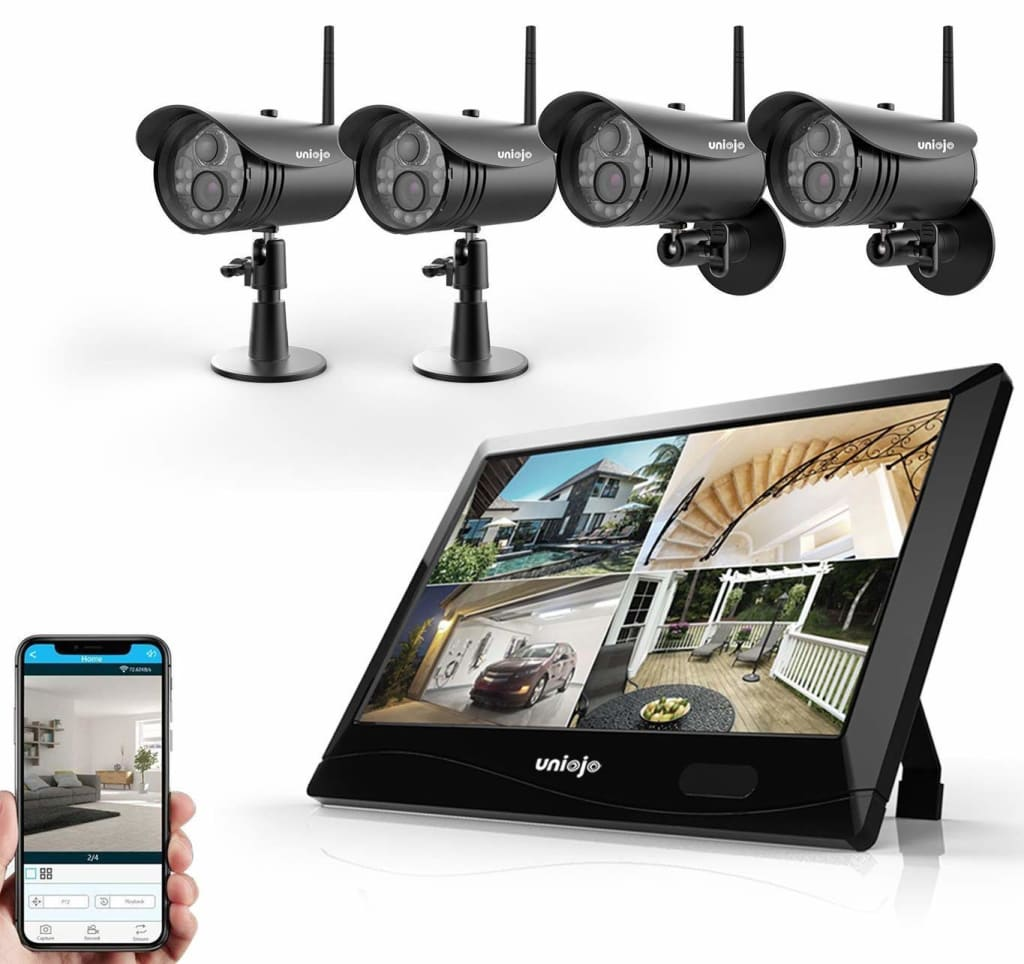 Uniojo 1080p 4-Camera Wireless Security System for $175