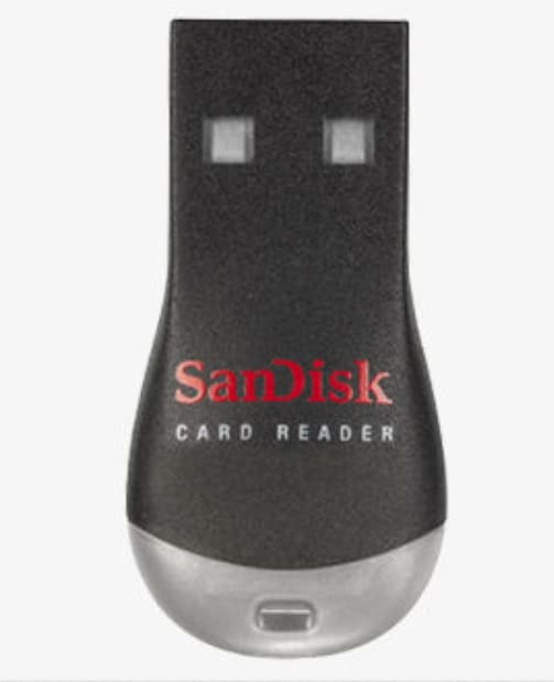SanDisk MicroSD Memory Card Reader for $4