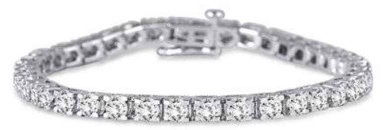 5-tcw Diamond 14K White Gold Bracelet for $1,889