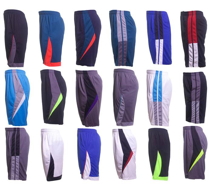 5 Pairs of Men's Moisture-Wicking Mesh Shorts $30