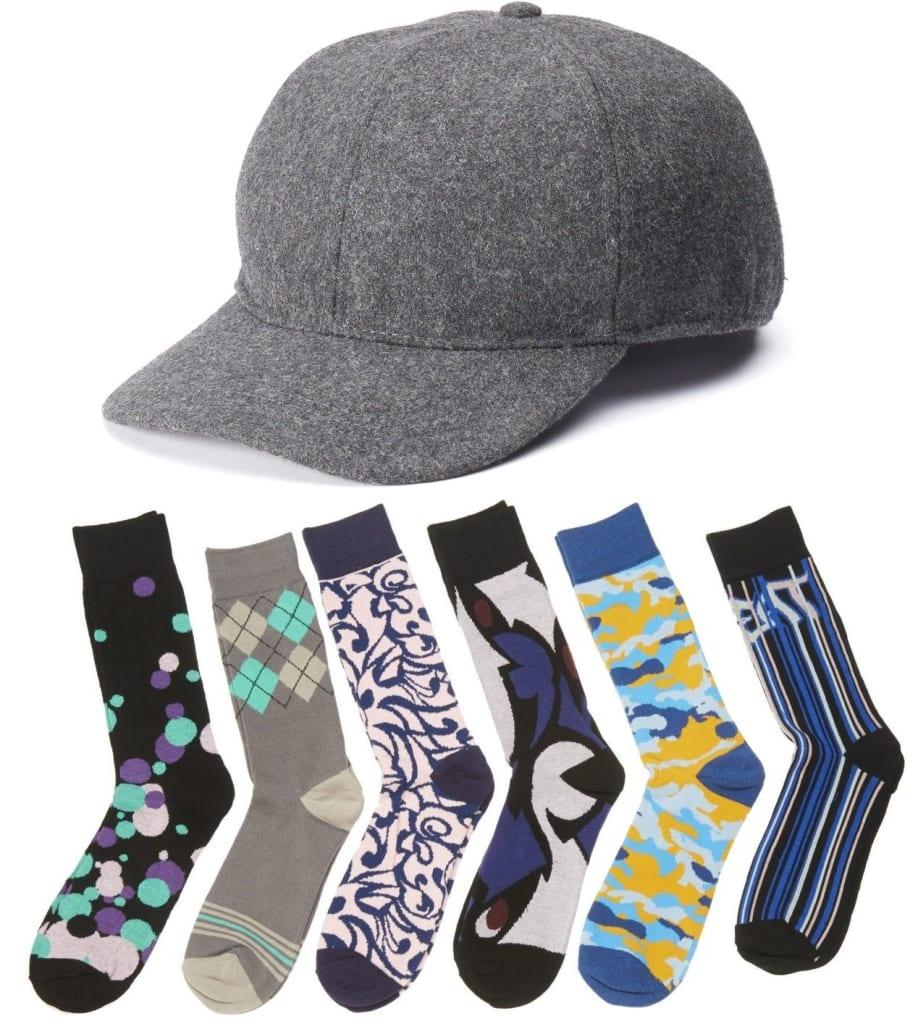 Totes Isotoner Men's Wool Cap w/ Socks 3-Pack $10