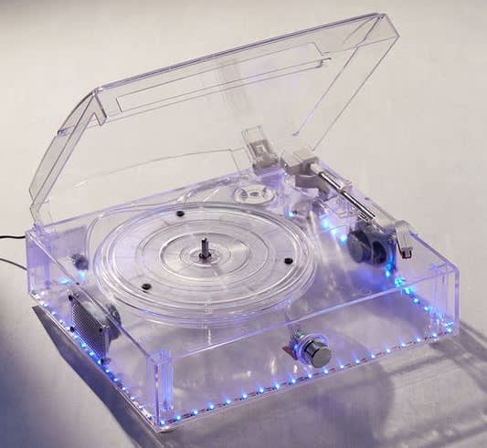 Clear LED Light-Up Turntable for $30