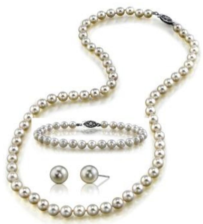 Freshwater Cultured Pearl Jewelry Set for $40