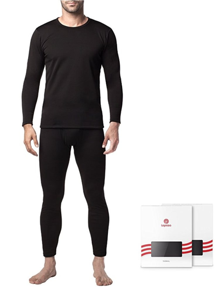 Lapasa Men's Thermal Base Layer Set for $25
