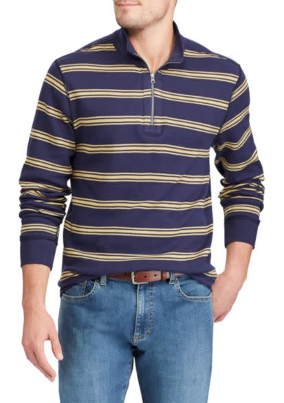 Chaps Men's Reversible Mockneck Pullover for $12
