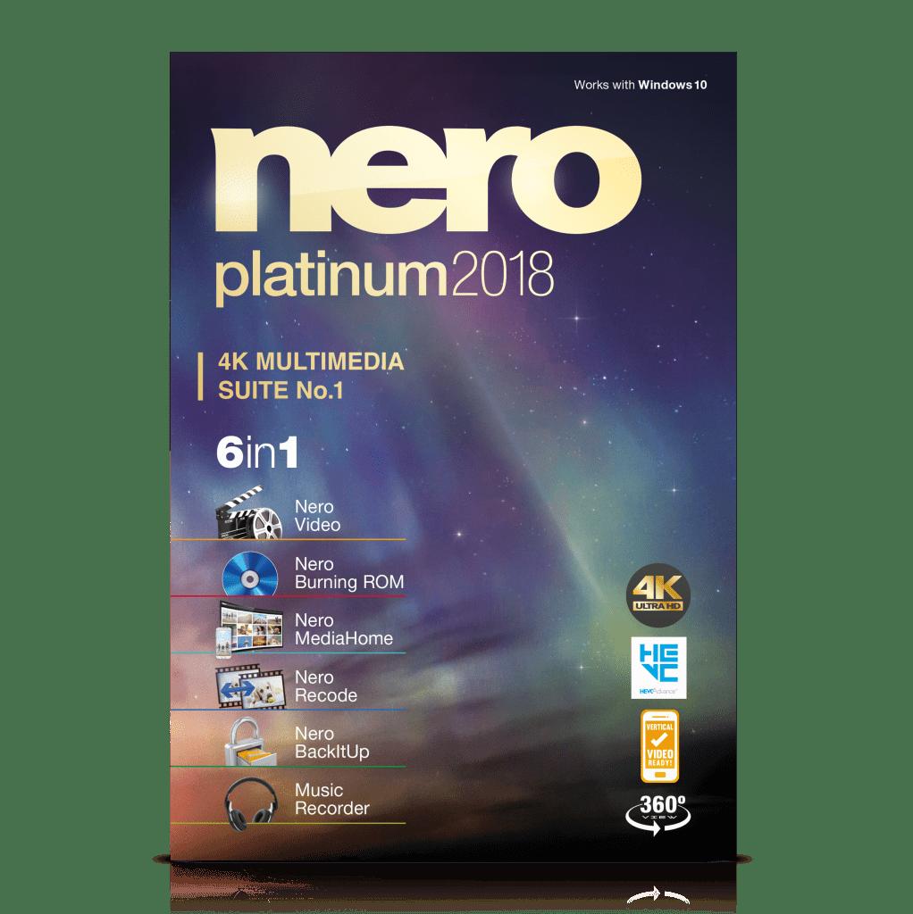 Nero Platinum 4K Suite 2018 for PC $0 + $3 s&h
