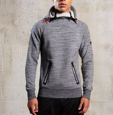 Superdry Men's Gym Tech Double Zip Hoodie for $42