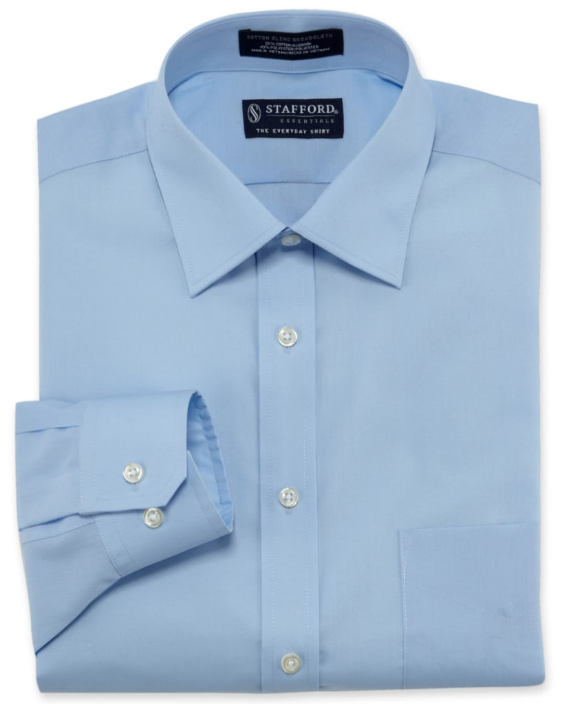 Stafford Men's Easy-Care Fitted Dress Shirt from $13
