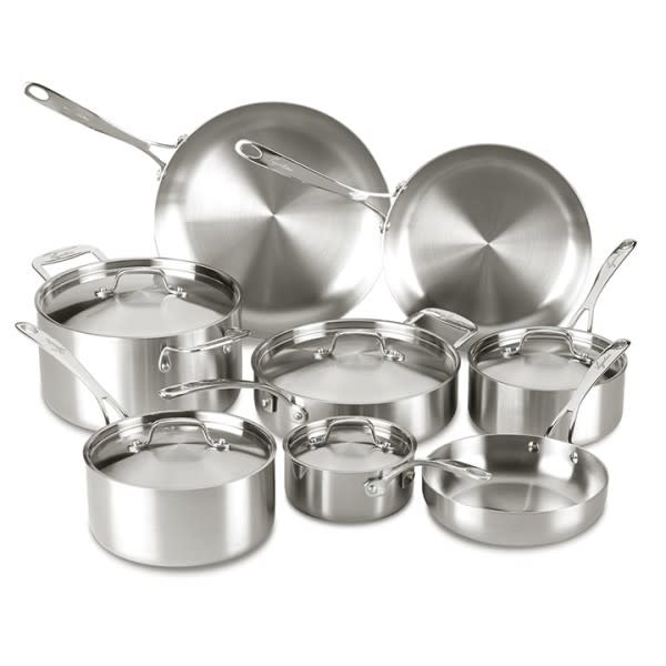 Lagostina Axia Tri-Ply 13-Piece Cookware Set $150