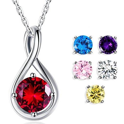 Foruiston Infinity Pendant Necklace Set for $13
