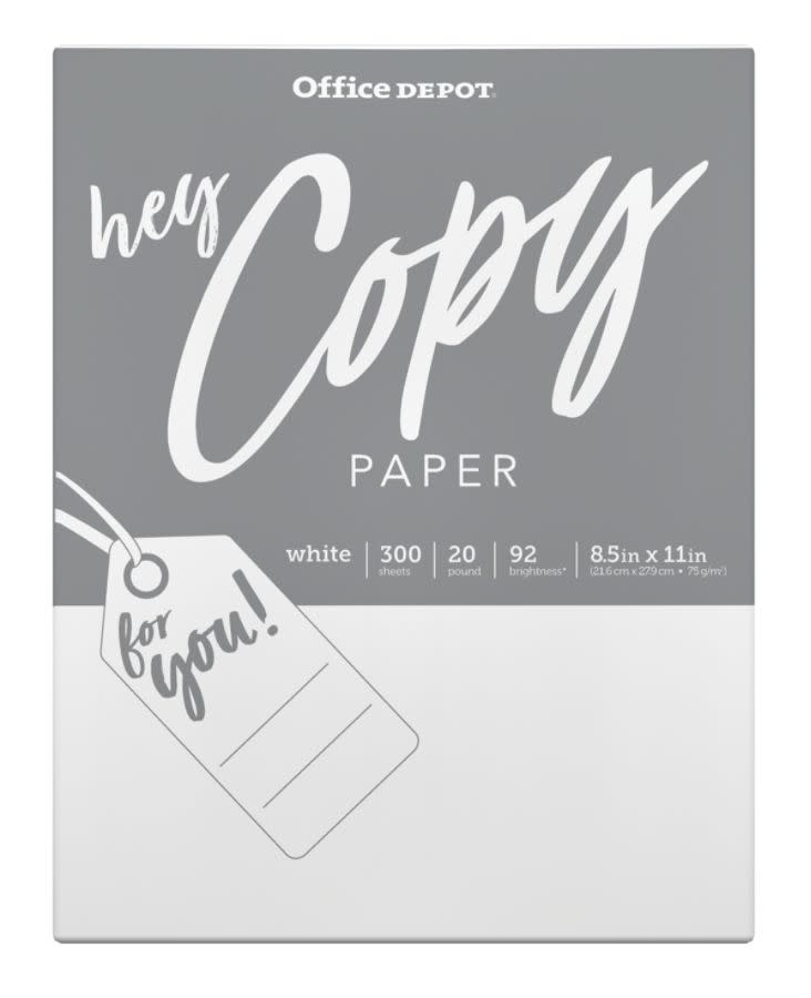 Office Depot 300-Sheet Copy & Print Paper for $1