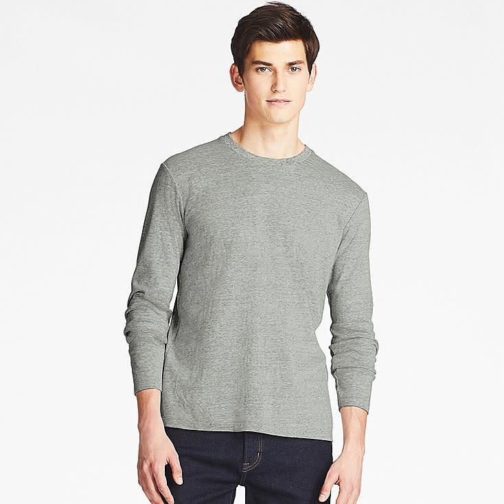 Uniqlo Men's Soft Touch Long-Sleeve T-Shirt for $6