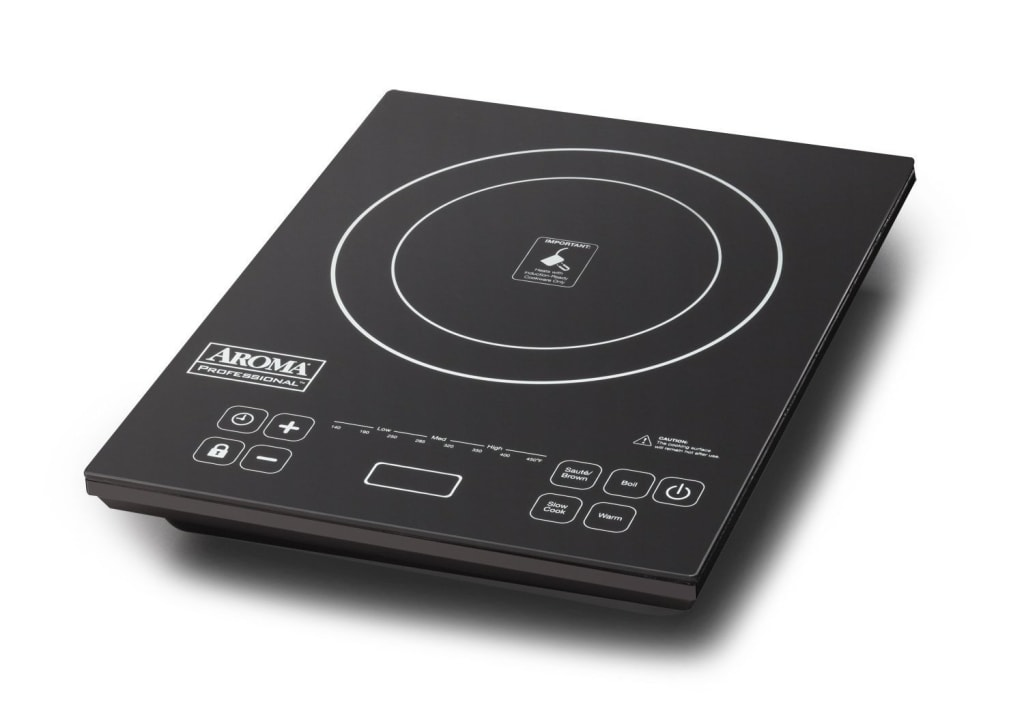 """Aroma Digital Cooktop w/ 9"""" Fry Pan for $66"""