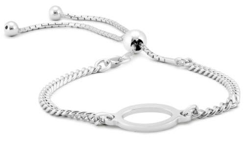 Infinity Oval Loop Bolo Bracelet for $15