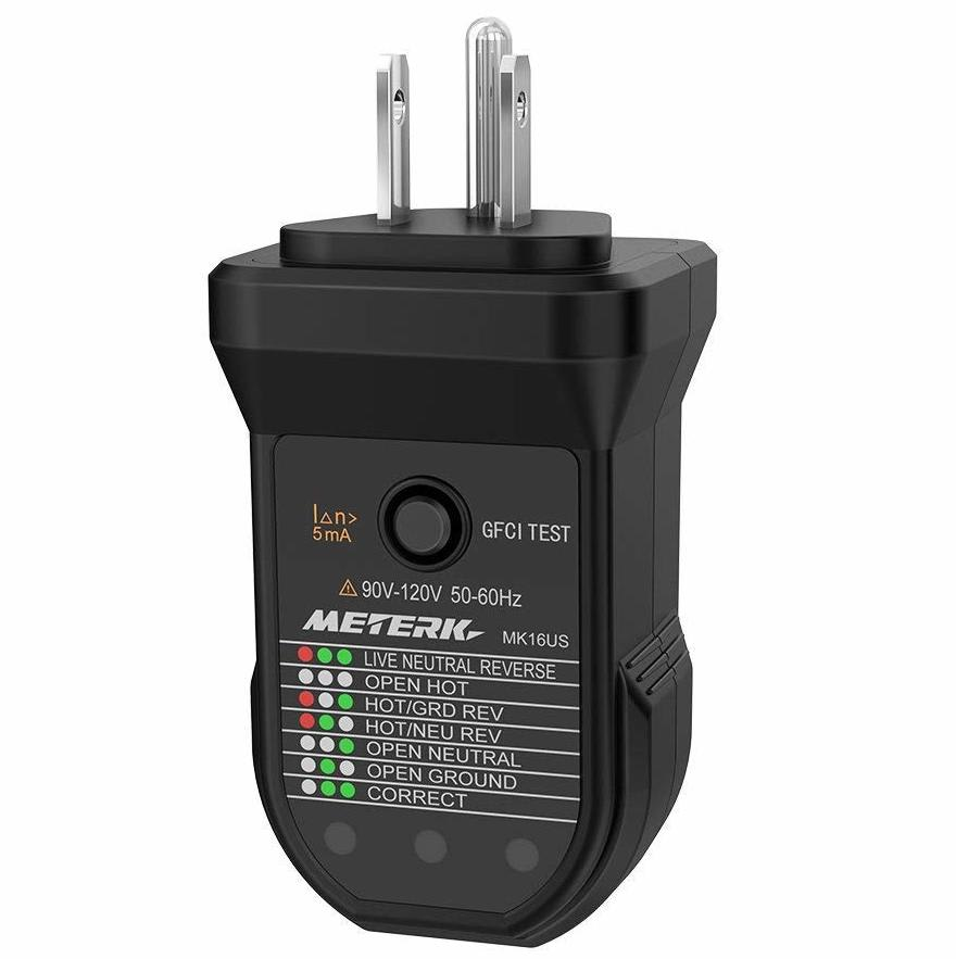 Meterk Gfci Electric Socket Tester For 4