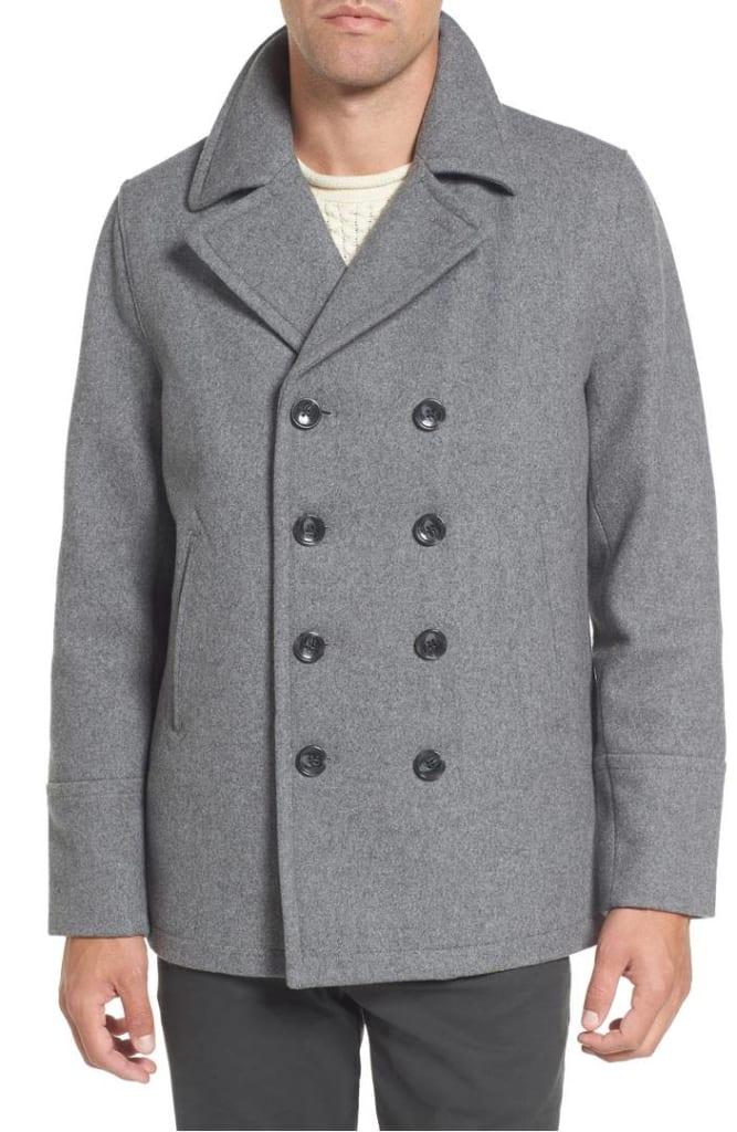 Michael Kors Men's Wool Blend Peacoat for $100