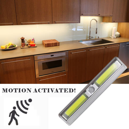 """7"""" Cob LED Motion-Activated Tap Light for $6"""