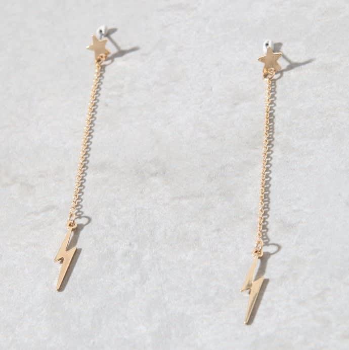 LA Hearts Bolt Earrings for $4