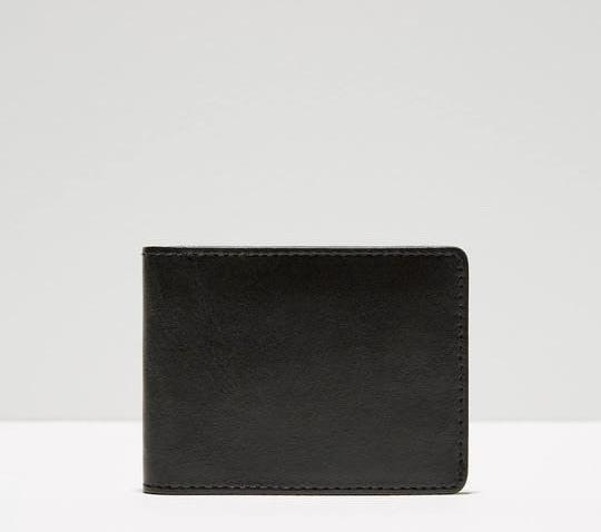 Frank and Oak Leather Bill Fold Wallet $10