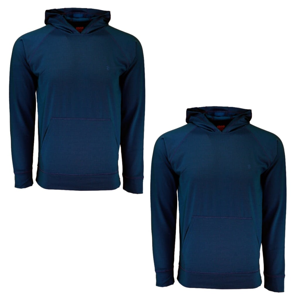 00e87bd6ee49 Izod Men's Fitted Pullover Hoodie 2-Pack for $12