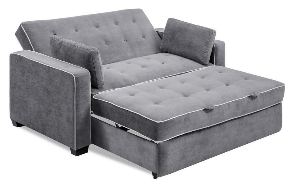 Serta Augustus Microfiber Queen Size Convertible Sofa for ...