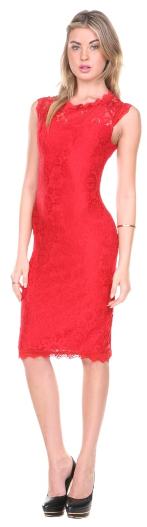 Women's Lace Overlay Cocktail Dress for $14