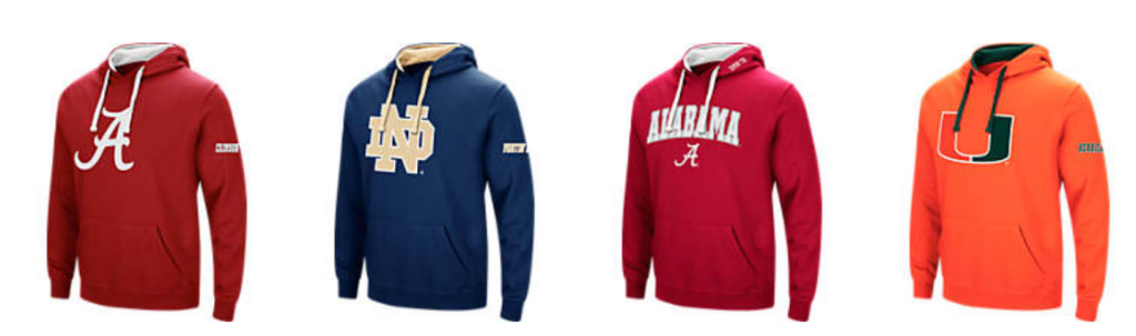 Men's NCAA Hoodies at Finish Line for $17
