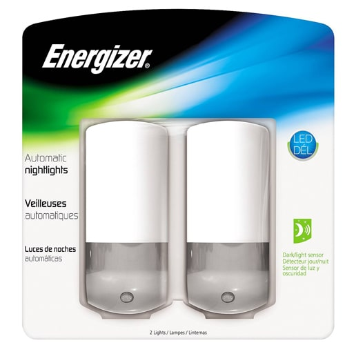 Energizer Automatic LED Nightlights 2-Pack for $4