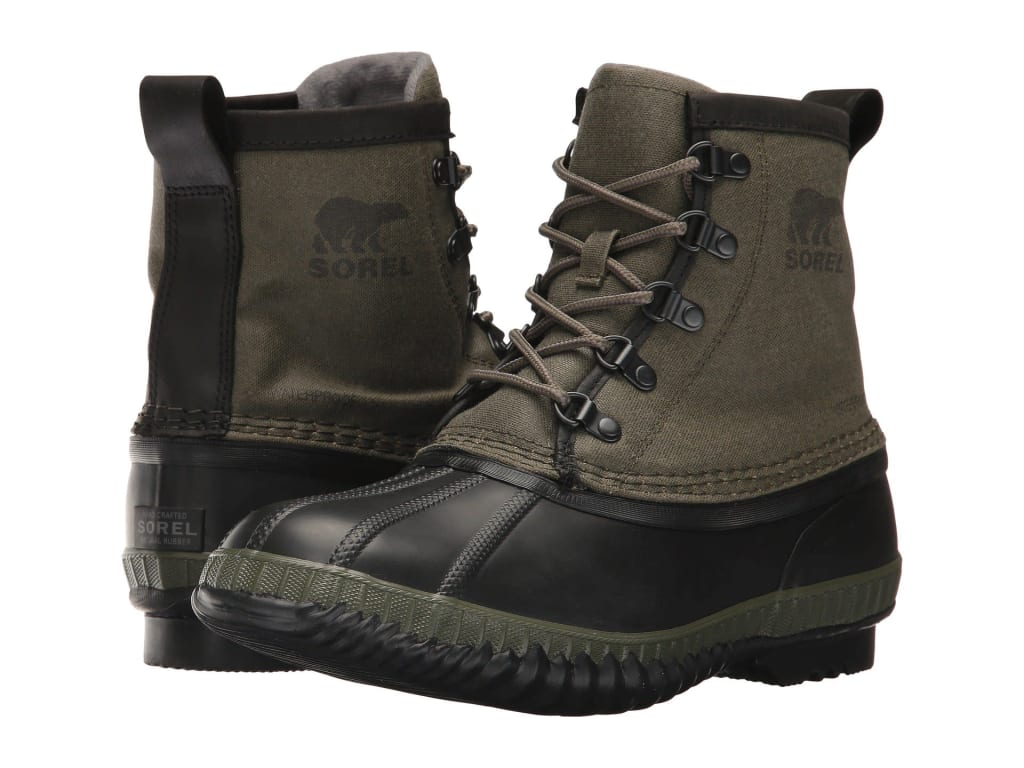 Sorel Men's Cheyanne II Short Canvas Boots for $64