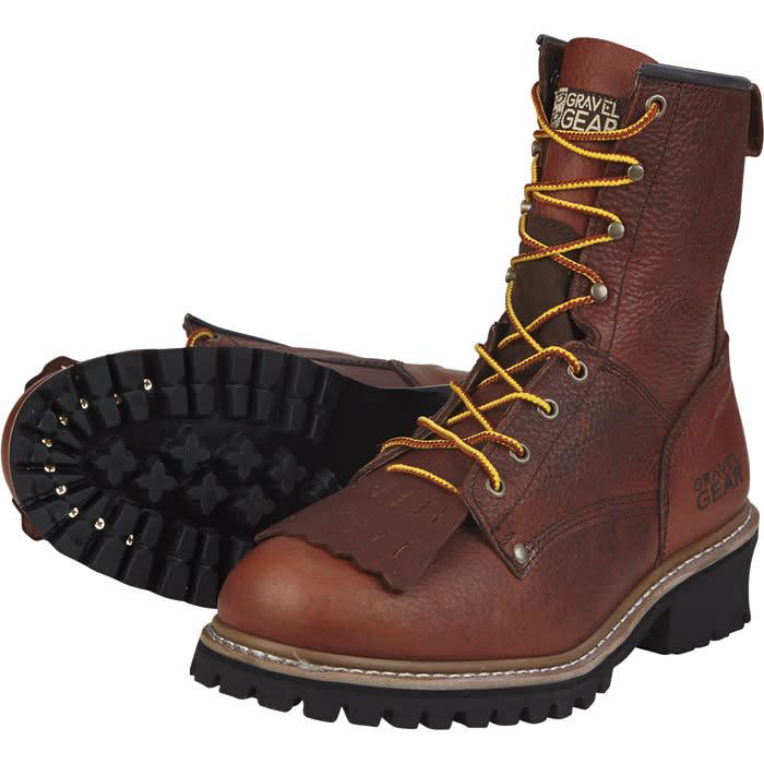 """Gravel Gear Men's 8"""" Logger Boots for $54"""