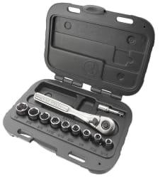 "Craftsman 11-Pc. 6-Pt. 1/4"" Socket Wrench Set $10"