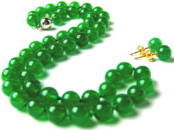 Malay Jade Necklace and Earring Set for $12
