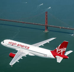 Virgin America Nationwide Fares from $41 1-way