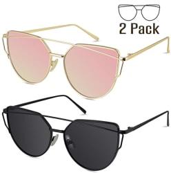 Livho G Women's Cat Eye Sunglasses 2-Pack for $12