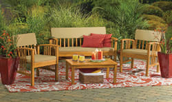 4pc Westerly Acacia Wood Deep Seating Set for $150
