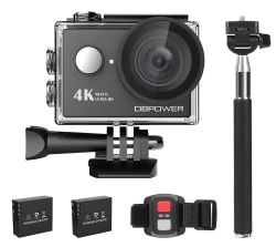DBPower 12MP 4K WiFi Waterproof Action Camera $40