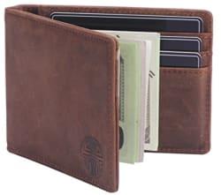 RFID-Blocking Slim Leather Wallet for $17