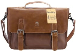 Berchirly Vintage PU Leather Briefcase for $26