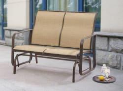 Mainstays Wesley Creek 2 Seat Sling Glider For $71