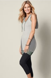 Venus Women's Striped Hooded Tunic for $13
