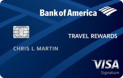 Bank of America® Travel Rewards: 20k Points Offer