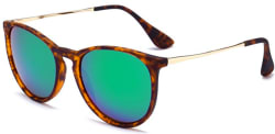 Sungait Women's Vintage Round Sunglasses for $10